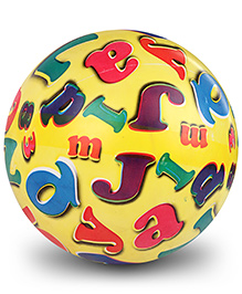 Fab N Funky Kids Ball Alphabet And Number Print - Yellow