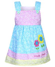 Babyhug Singlet Frock Multi Colour - Floral Print
