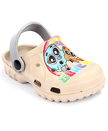 Cute Walk Clog With Back Strap - Cream