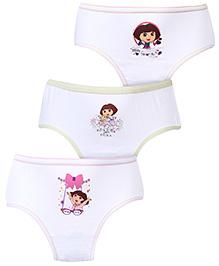 Dora Panties White - Set Of 3