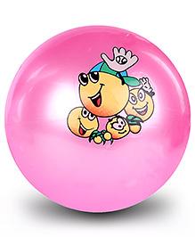 Fab N Funky Kids Ball Cartoon Print - Pink