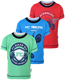 Finger Chips Half Sleeves T-Shirt Printed - Set of 3