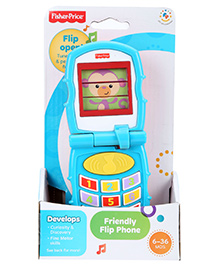 Fisher Price Friendly Flip Phone - Blue