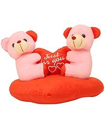 DealBindaas Stuff Toy Teddy Bear Couple On Heart - 25 cm