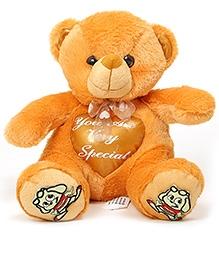 DealBindaas Stuff Toy Teddy Bear Sitting with InBuilt Heart - 25 cm