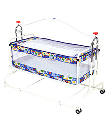 New Natraj Compact Cradle With Mosquito Net - Blue