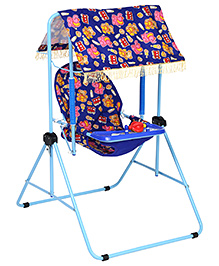 Infanto Rocko Swing Red Elephant And Multi Print - Blue
