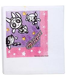 Power Puff Girls Napkins White - 16 Pieces