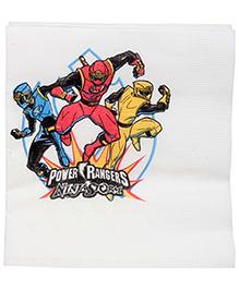Power Rangers Ninijastorm Napkins White - 16 Pieces