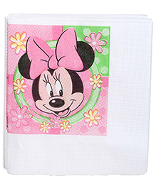 Minnie Mouse Napkins White - 16 Pieces
