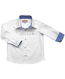 Campana Full Sleeves Formal Shirt - White