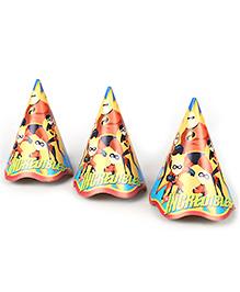 Disney Cone Hats Incredibles Print - Pack Of 8
