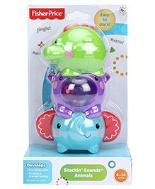 Fisher Price Stackin Sounds Animals - Multi Colour