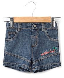 Beebay Holiday Denim Shorts - Blue