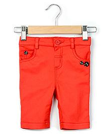 Beebay Twill Capri - Red
