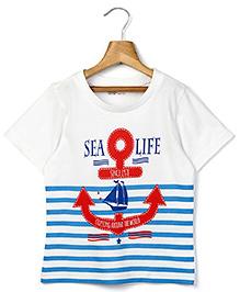 Beebay Half Sleeves T-Shirt - Sea Life Print