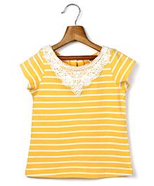 Beebay Lace Collar T-Shirt - Yellow