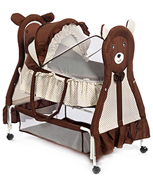 Baby Cradle Bear Face Design - Coffee Brown