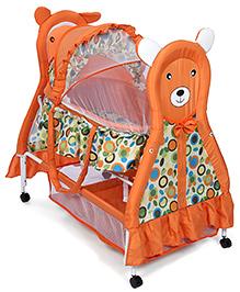 Fab N Funky Baby Cradle Orange - Bear Face Design