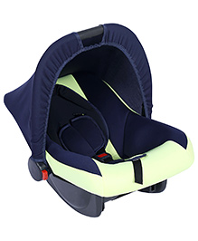 Fab N Funky Infant Car Seat Cum Carry Cot - Light Lemon Green - All Over Dimension 59 X 41 X 54 Cm