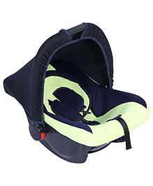 Fab N Funky Infant Car Seat Cum Carry Cot - Dark Lemon Green - All Over Dimension 59 X 41 X 54 Cm
