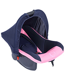 Fab N Funky Infant Car Seat Cum Carry Cot - Light Pink - All Over Dimension 59 X 41 X 54 Cm