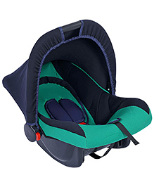 Fab N Funky Infant Car Seat Cum Carry Cot - Green And Black - All Over Dimension 59 X 41 X 54 Cm