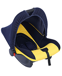 Fab N Funky Infant Car Seat Cum Carry Cot - Yellow And Black - All Over Dimension 59 X 41 X 54 Cm