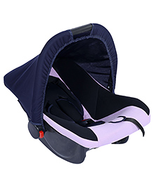 Fab N Funky Infant Car Seat Cum Carry Cot - Purple And Black - All Over Dimension 59 X 41 X 54 Cm