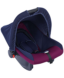 Fab N Funky Infant Car Seat Cum Carry Cot - Rose And Blue - All Over Dimension 59 X 41 X 54 Cm