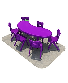 Playwell Play Ground Eggplant Desk No Chairs - Table L: 165 X W: 80 X H: 50 Cm
