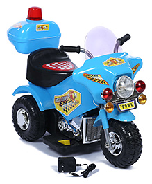 Battery Operated Bike Ride On - Blue And Black