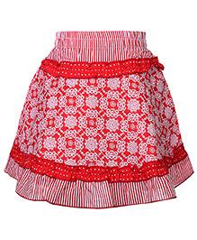 Babyhug Skirt Red - Floral Print