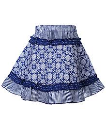 Babyhug Skirt Blue - Floral Print