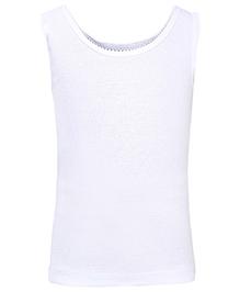 Babyhug Sleeveless Camisole - White