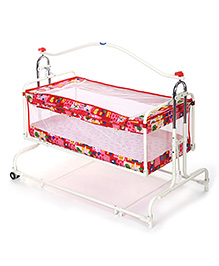 New Natraj Compact Cradle With Mosquito Net - Red