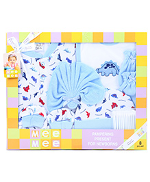 Mee Mee Pampering Present For New Born Blue - Pack Of 8