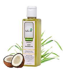 Rustic Art Green Apple Organic Baby Massage Oil - 100 Ml - With The Goodness Of Olive