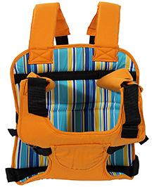 Multi Function Car Cushion Stripes Print - Orange
