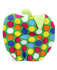 Babyhug Fruit Shape Rai Filling Pillow Green - Polka Dots
