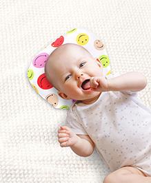 Babyhug Oval Shape Pillow Smiley Print - Multi Color - Washable Pillow