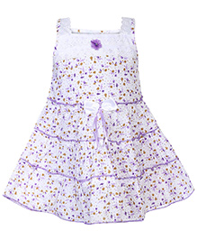 Babyhug Sleeveless Frock - Purple