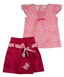 Ssmitn Top And Skirt Combo With A Flap