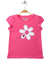 Jumping Beans Short Sleeves Top Pink - Floral Patch