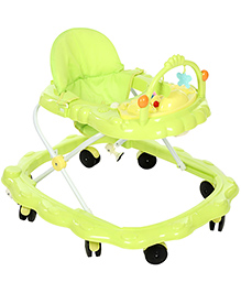 Musical Baby Walker With Play Tray - Green