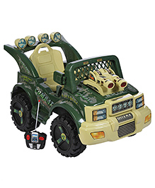 Battery Operated Jeep Ride On - Military Color - Over All Dimensions 63 X 91 X 58 Cm