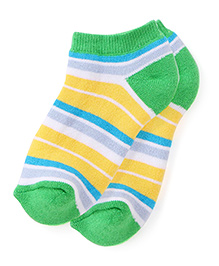Mustang Socks Green - Stripes