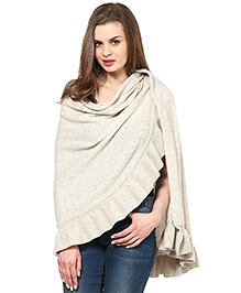 Pluchi Fashion Knitted Poncho Lambswool - Daisy
