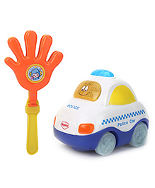 Mitashi Skykidz Clap And Zoom Vehicle White Police Car