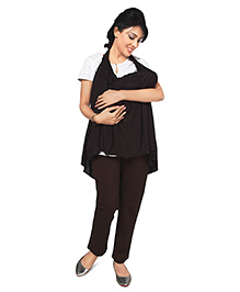 Nine Magical Scarf Cum Nursing Cover - Black